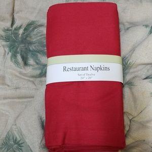 NWOT Red Dinner Napkins
